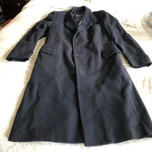 Yves Saint Laurent Wool Coat. Medium - dark Navy